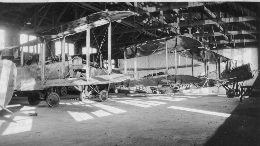Inside hanger