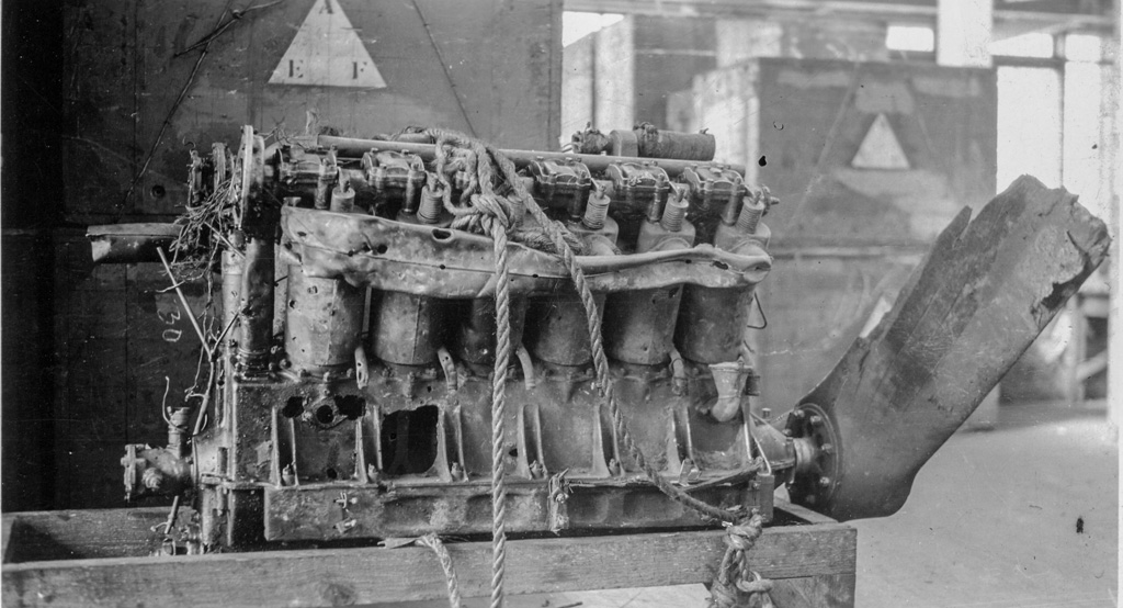 Liberty Engine recovered from crash
