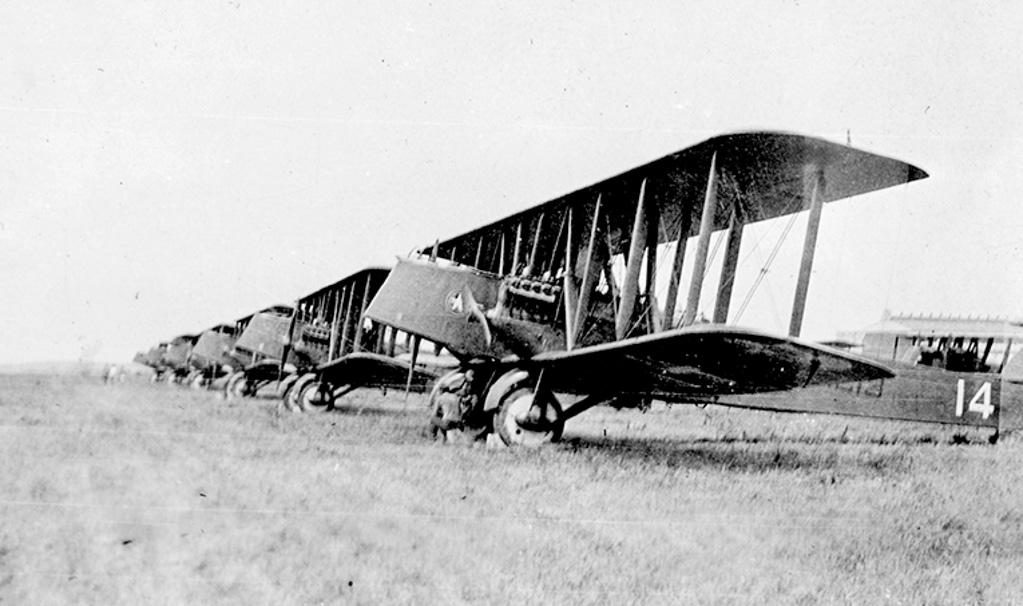 Line of bombers