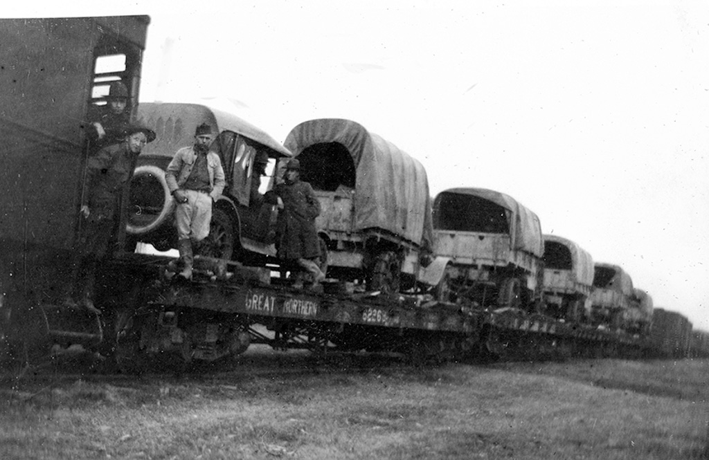 Loading train to Langley
